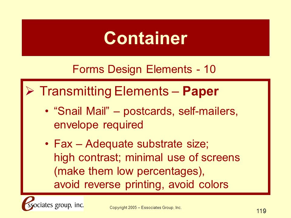Container Transmitting Elements – Paper Forms Design Elements - 10