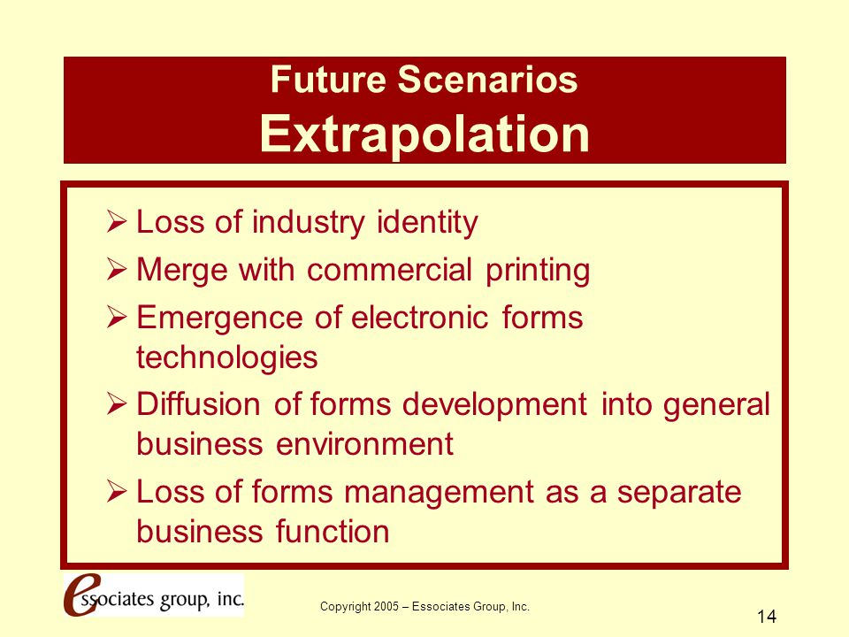 Future Scenarios Extrapolation