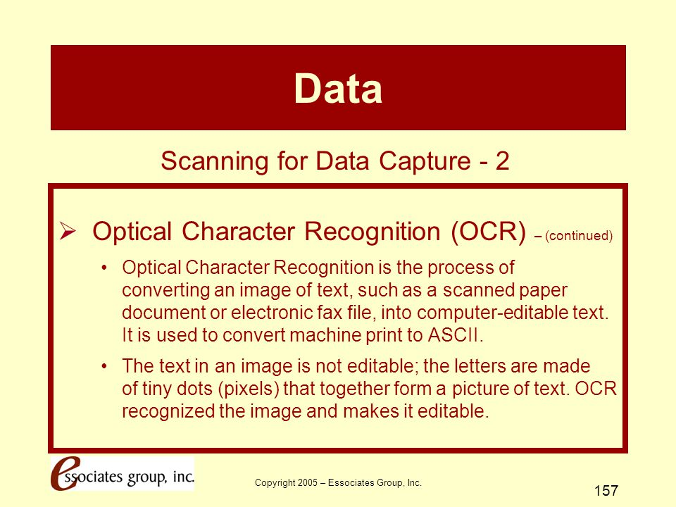 Data Scanning for Data Capture - 2