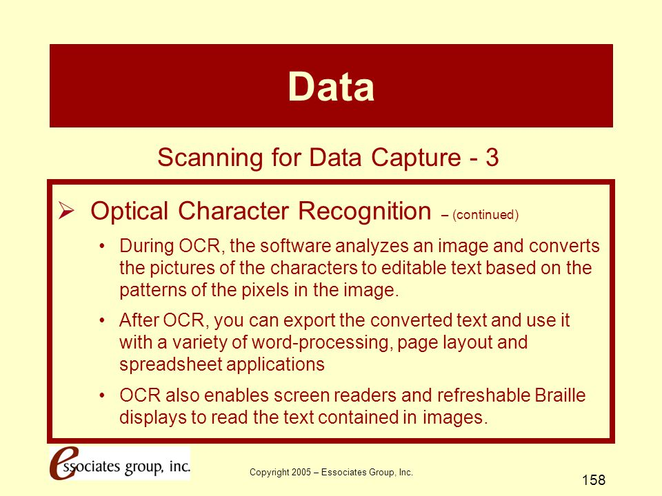 Data Scanning for Data Capture - 3
