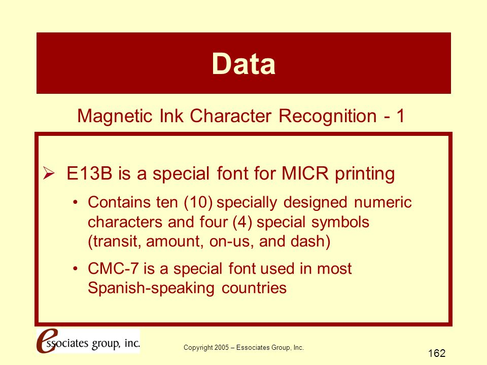 Data Magnetic Ink Character Recognition - 1
