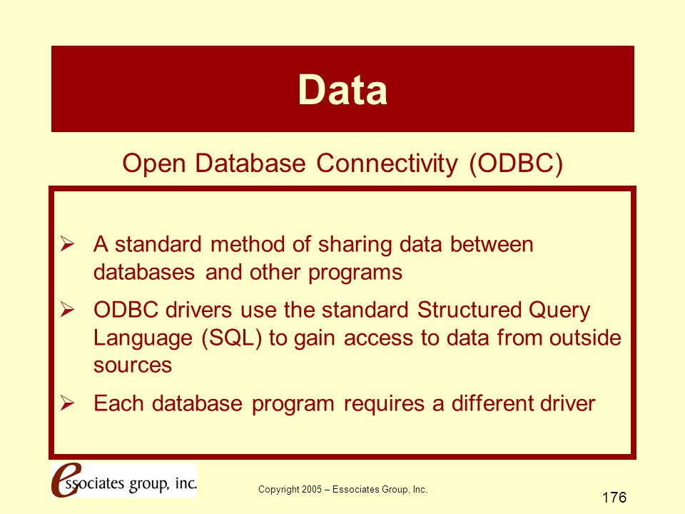 Data Open Database Connectivity (ODBC)