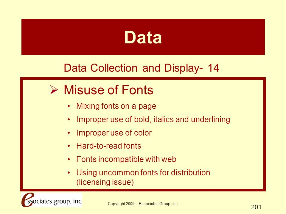 Data Misuse of Fonts Data Collection and Display- 14