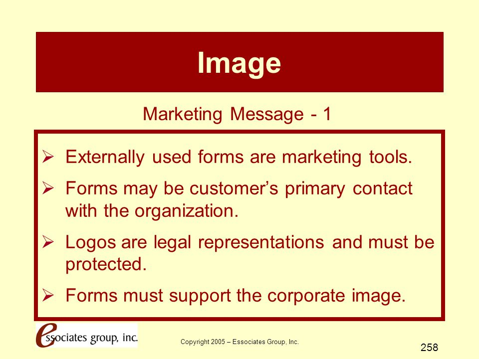 Copyright 2005 – Essociates Group, Inc.
