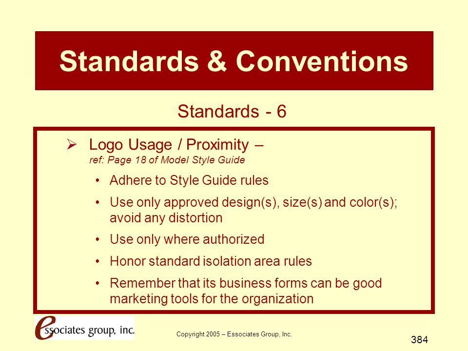 Standards & Conventions