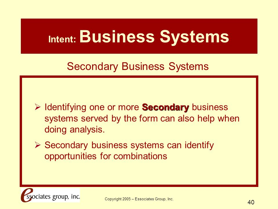 Intent: Business Systems