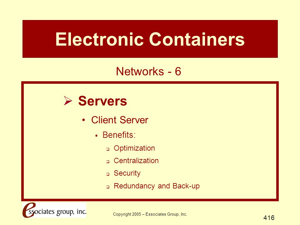 Electronic Containers
