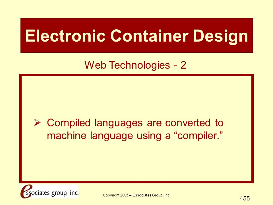 Electronic Container Design