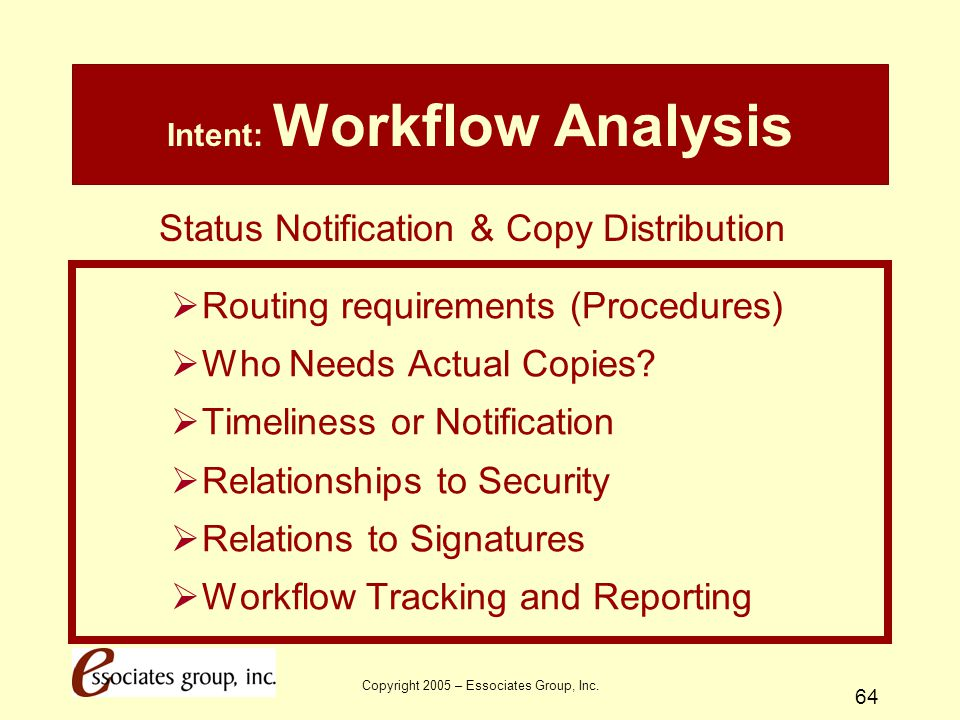 Intent: Workflow Analysis