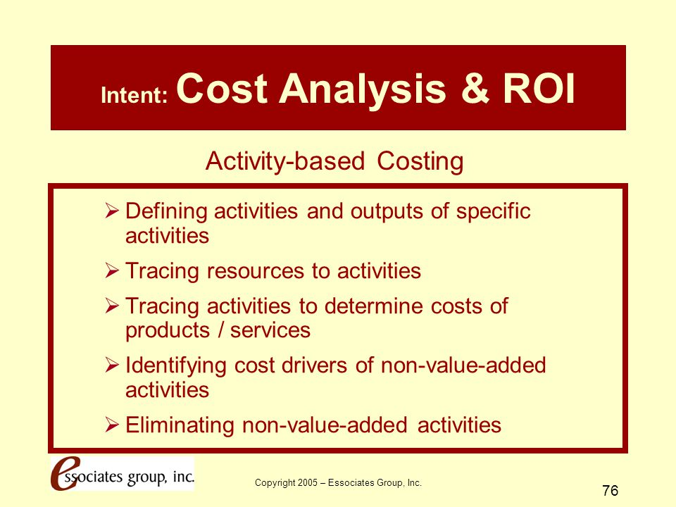Intent: Cost Analysis & ROI