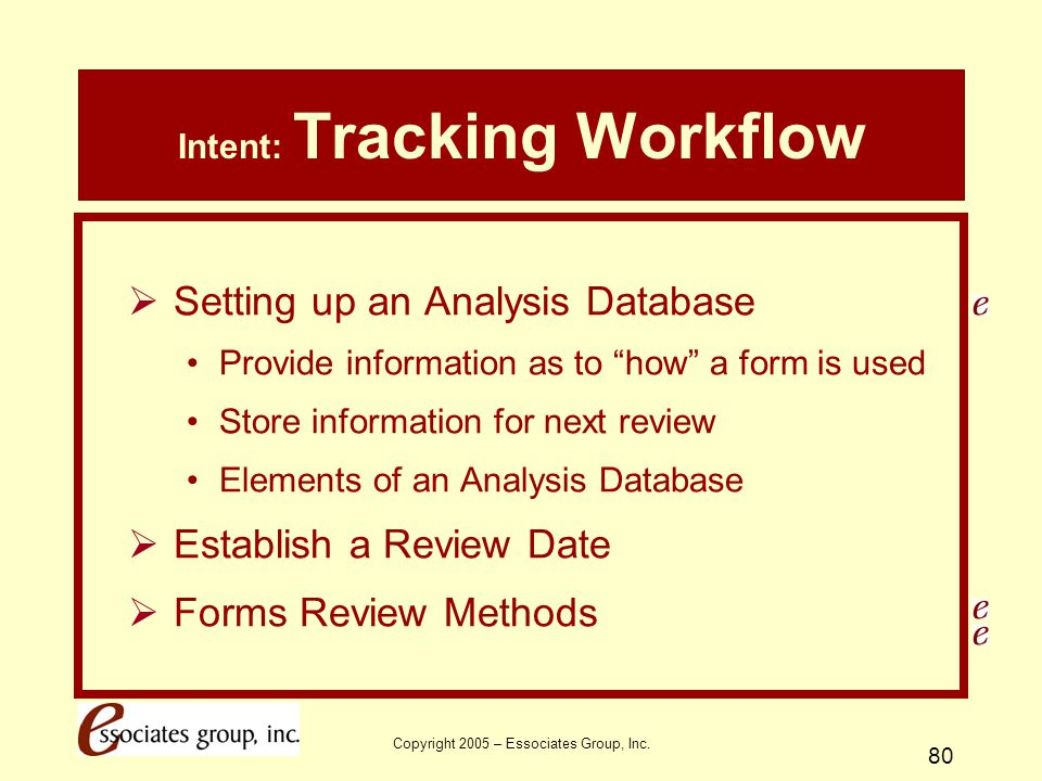 Intent: Tracking Workflow