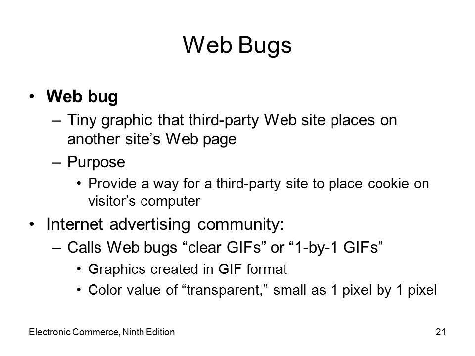 Web Bugs Web bug Internet advertising community: