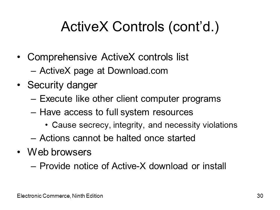 ActiveX Controls (cont'd.)