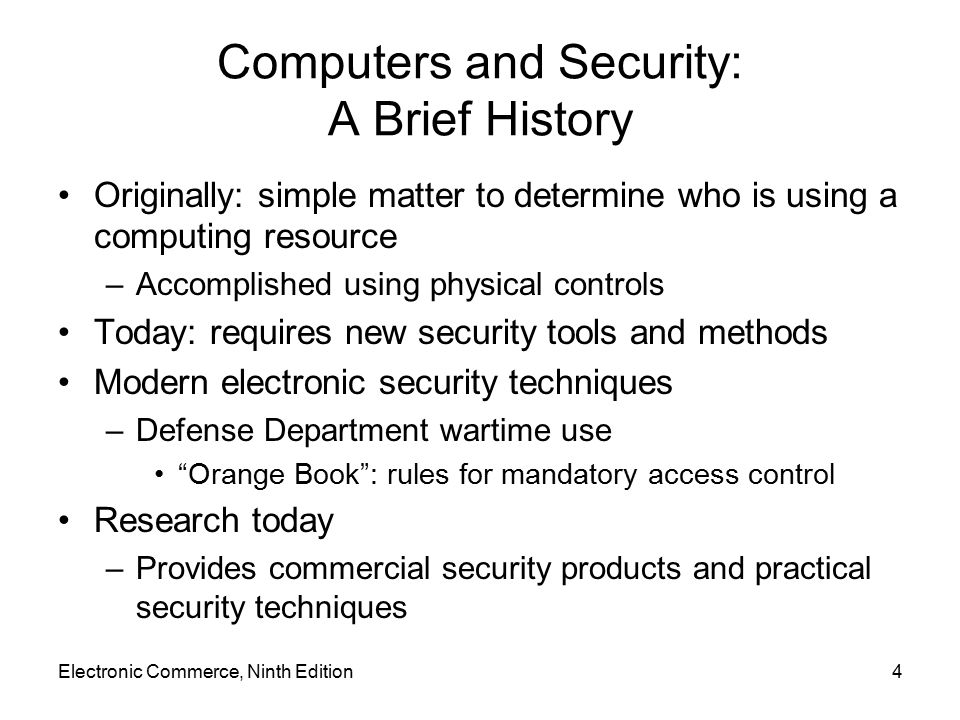Computers and Security: A Brief History