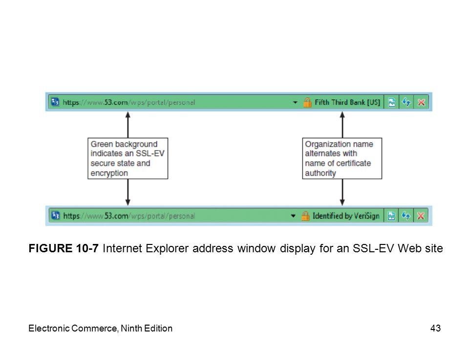 FIGURE 10-7 Internet Explorer address window display for an SSL-EV Web site