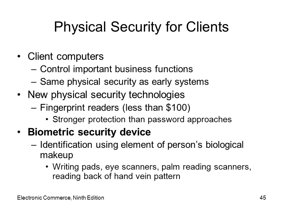 Physical Security for Clients
