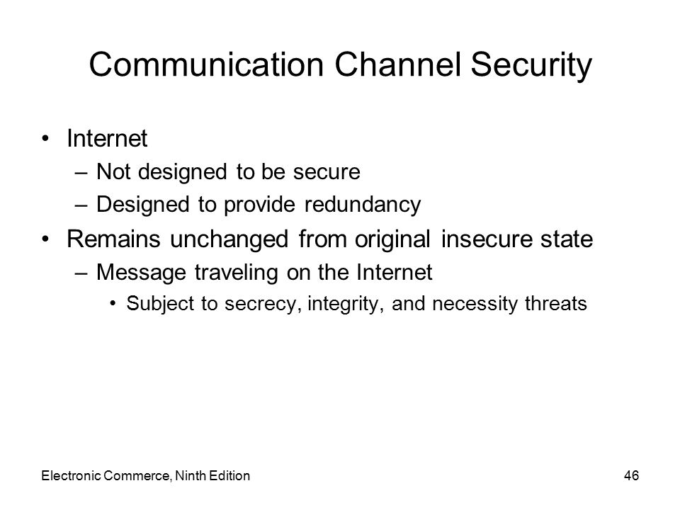 Communication Channel Security
