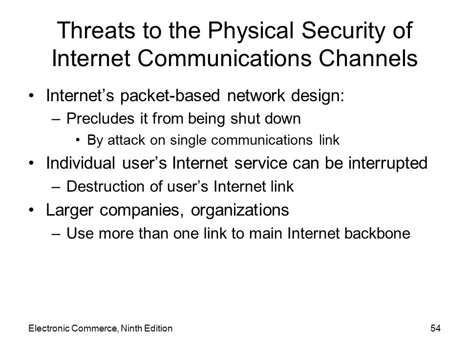 Threats to the Physical Security of Internet Communications Channels