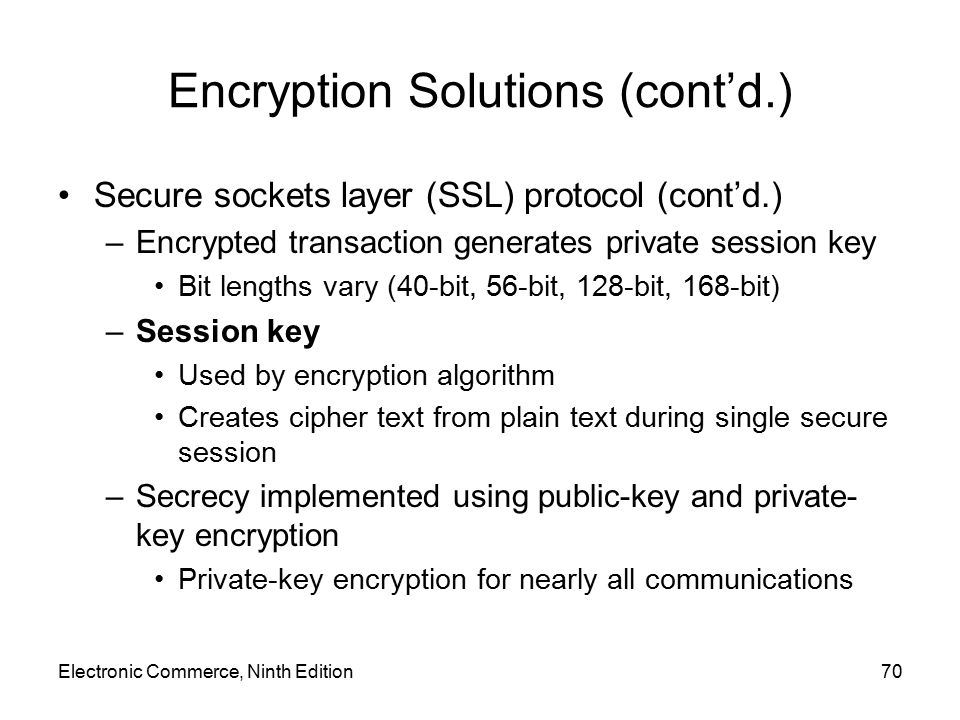 Encryption Solutions (cont'd.)