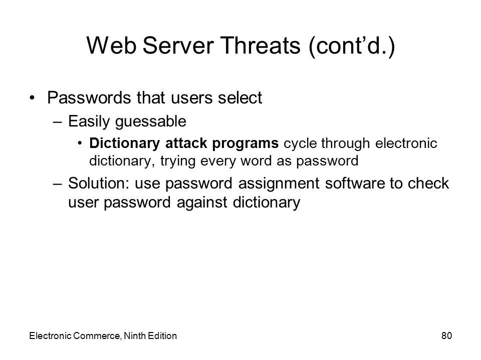 Web Server Threats (cont'd.)