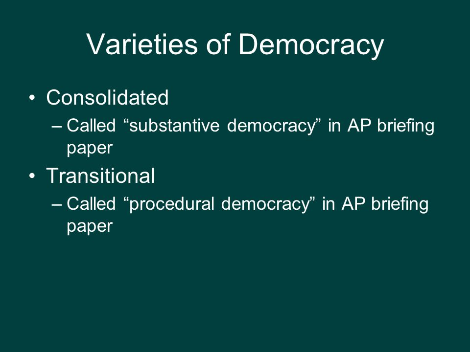 procedural and substantive democracy Deliberative democracy and the limits of liberalism kenneth baynes contrast between procedural and substantive democracy found.