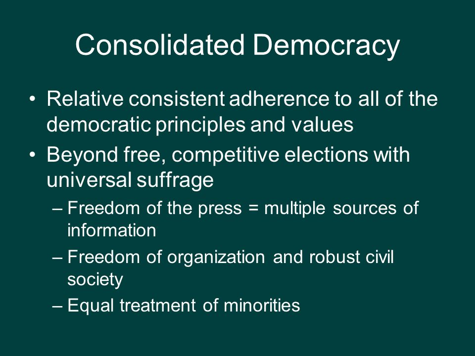 Consolidated Democracy