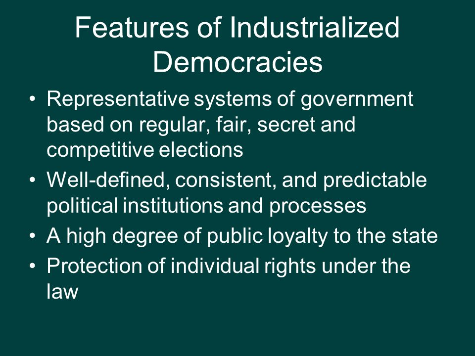 Features of Industrialized Democracies