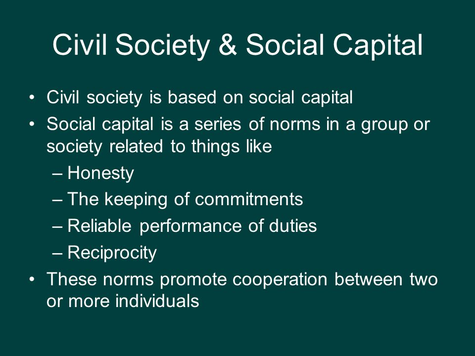 Civil Society & Social Capital