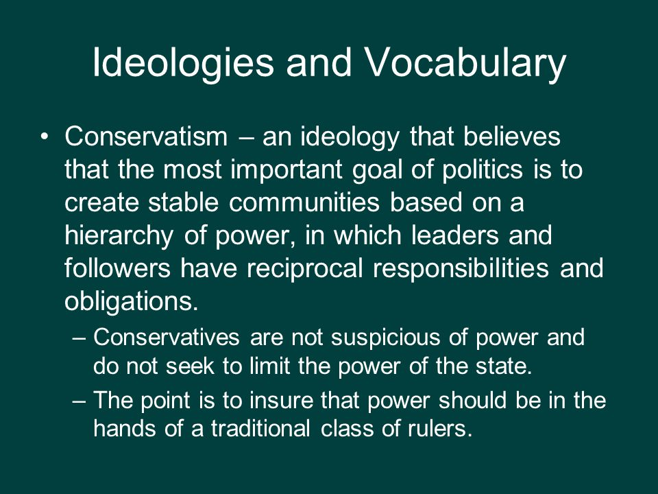 Ideologies and Vocabulary