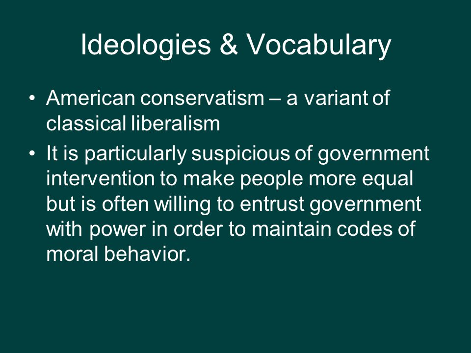 Ideologies & Vocabulary