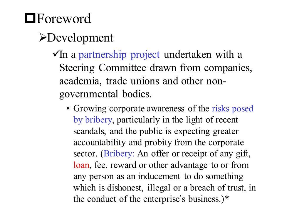 Foreword Development.