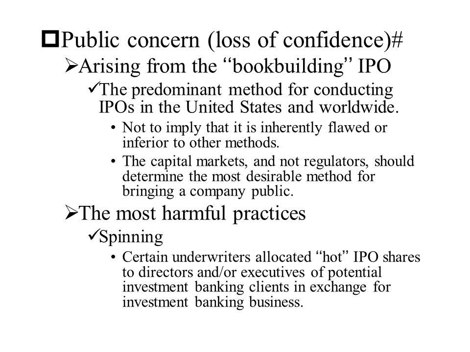 Public concern (loss of confidence)#