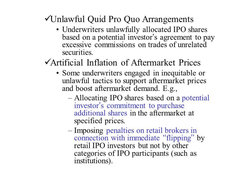 Unlawful Quid Pro Quo Arrangements
