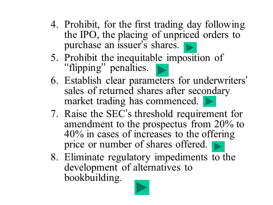 Prohibit the inequitable imposition of ''flipping'' penalties.