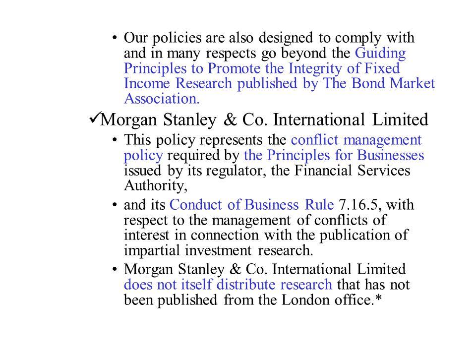 Morgan Stanley & Co. International Limited