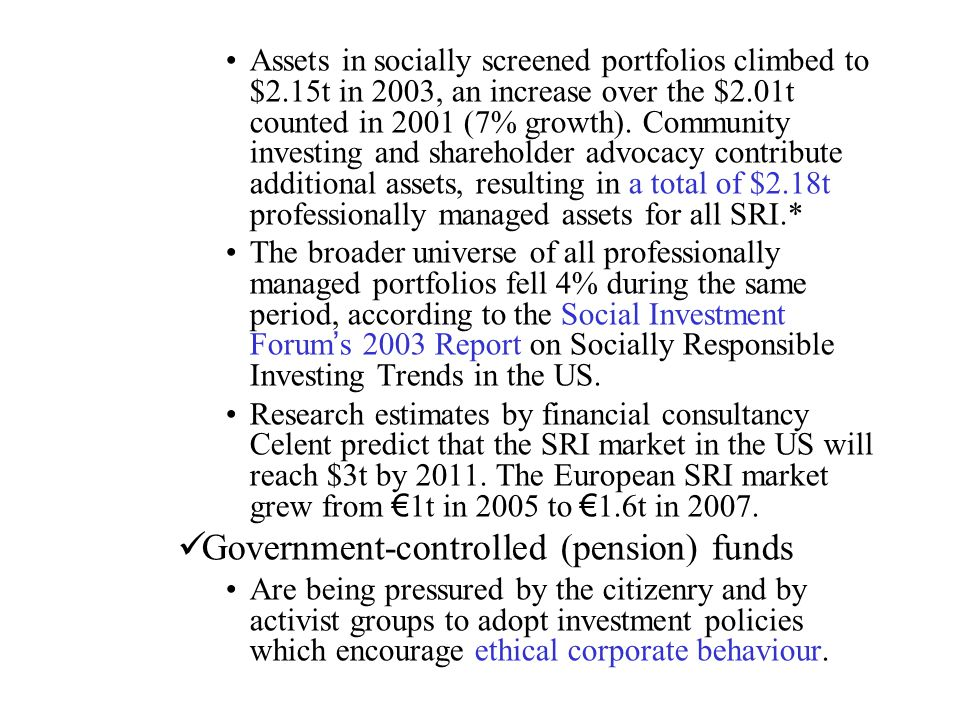 Government-controlled (pension) funds