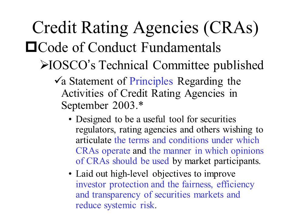 Credit Rating Agencies (CRAs)