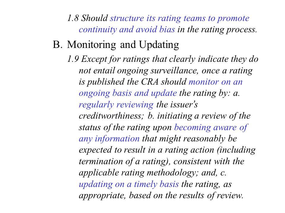 Monitoring and Updating