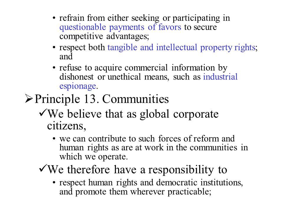Principle 13. Communities