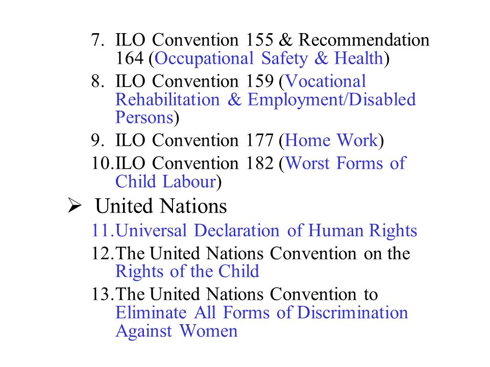 ILO Convention 155 & Recommendation 164 (Occupational Safety & Health)