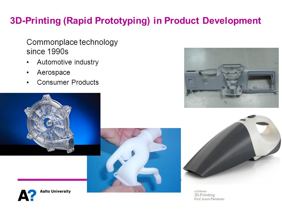 3D-Printing (Rapid Prototyping) in Product Development