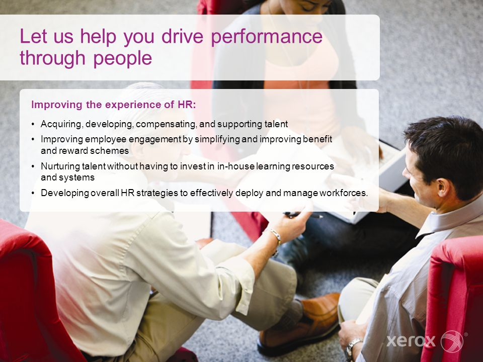 Let us help you drive performance through people
