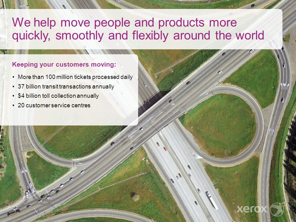 We help move people and products more quickly, smoothly and flexibly around the world