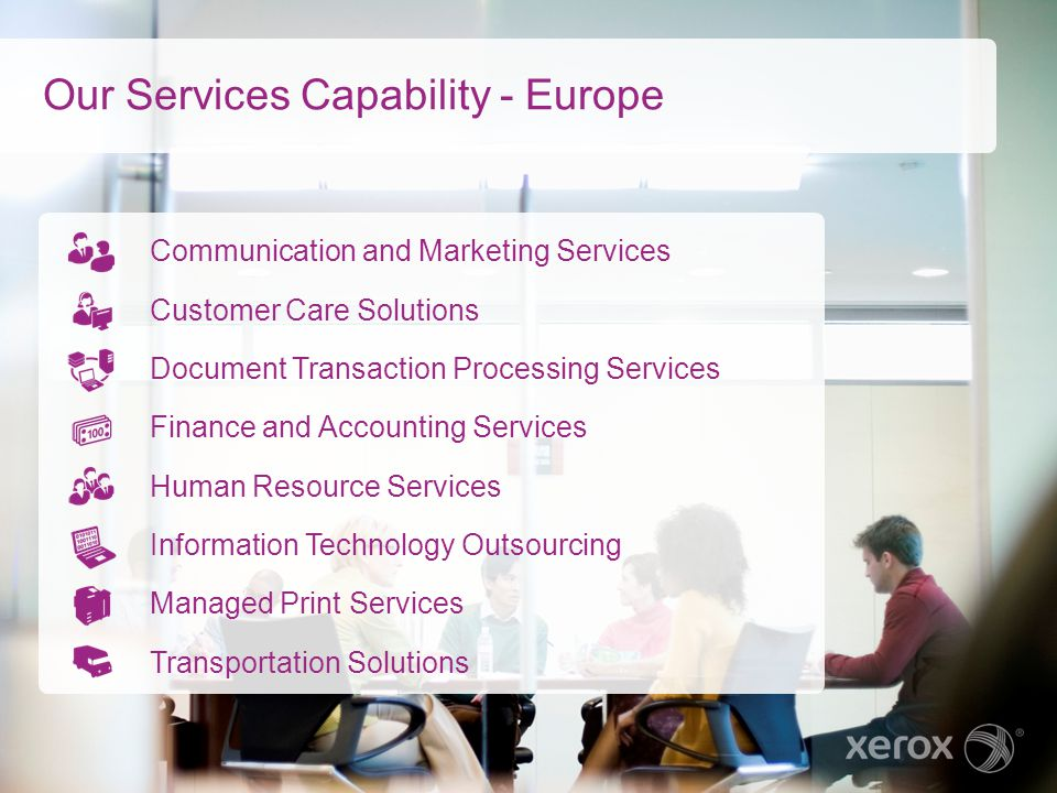 Our Services Capability - Europe