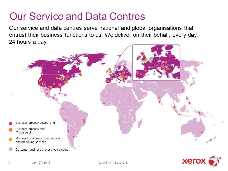 Our Service and Data Centres