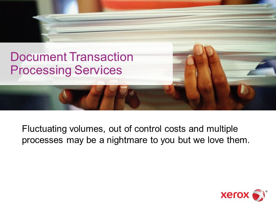Document Transaction Processing Services