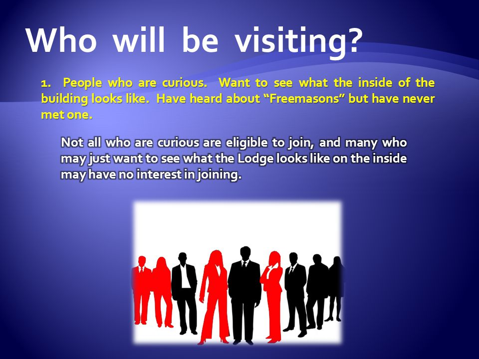 Who will be visiting