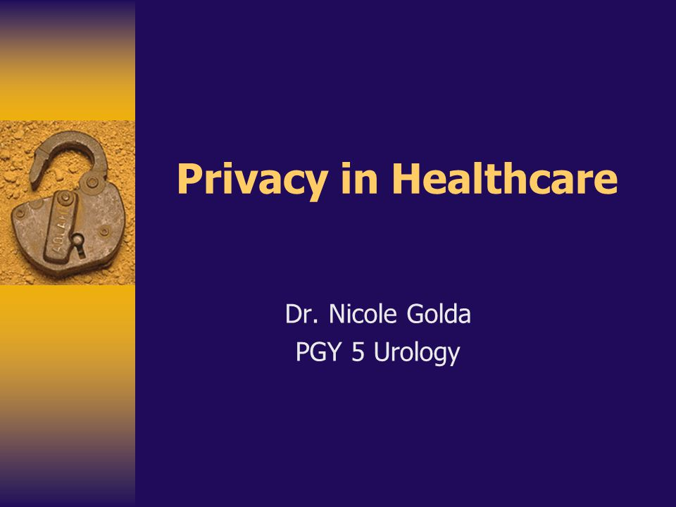 Dr. Nicole Golda PGY 5 Urology