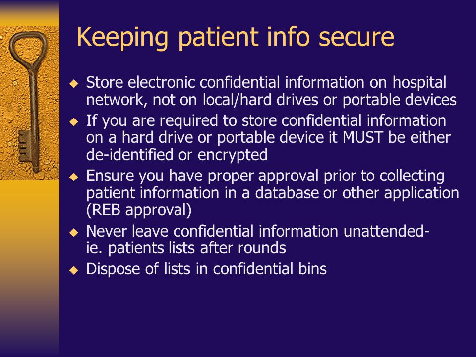 Keeping patient info secure