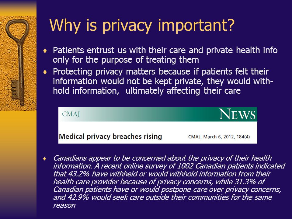 Why is privacy important